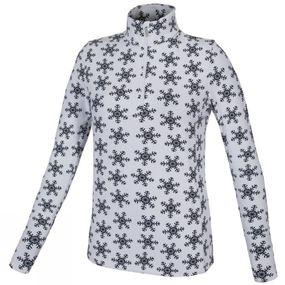 Girl's Snowflake Stretch Top